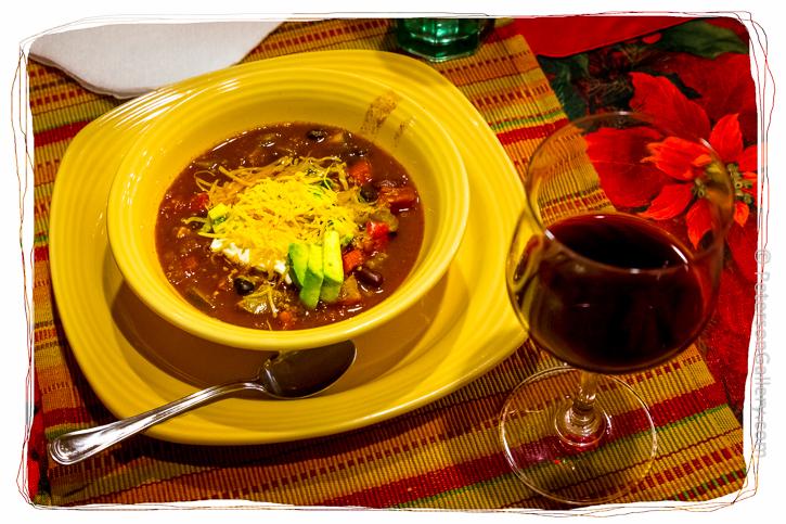 Quinoa Chili bowl