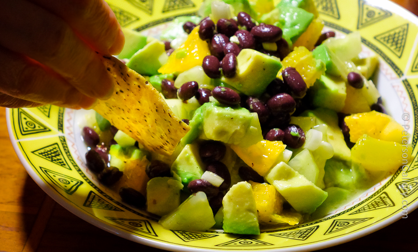Black Bean and Avocado Salsa Dip