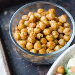 Glass bowl of heart healthy chickpeas